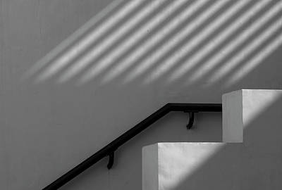Photograph - Monochrome Staircase by Prakash Ghai