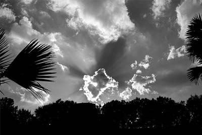 Monochrome Sunburst Art Print