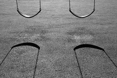 Photograph - Monochrome Swings by Luke Moore