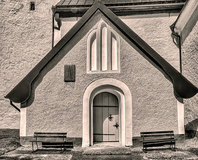 Photograph - Monochrome Toned Entre To Enkopingsnas Church May by Leif Sohlman