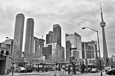 Photograph - Monochrome Toronto by Frozen in Time Fine Art Photography