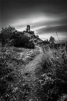 Photograph - Monochrome Tower - Tower Of Caprona, Monochrome Long Exposure by Matteo Viviani