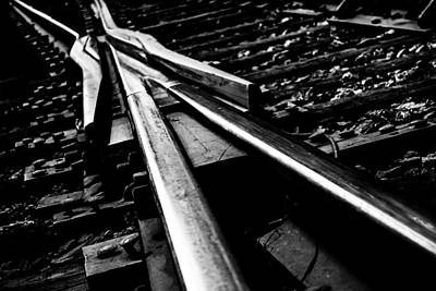 Photograph - Monochrome Tracks by Shelby  Young
