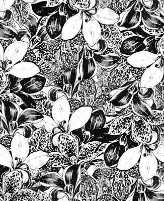 Pen And Ink Drawing Digital Art - Monochrome by Uma Gokhale
