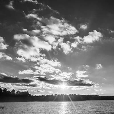 Photograph - Monochrome Vintage Sunset  by Parker Cunningham