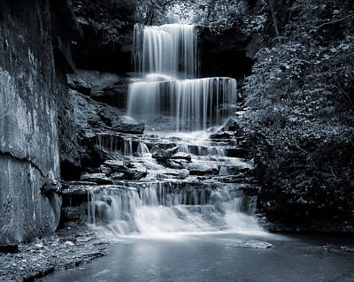 Photograph - Monochrome West Milton Falls by Dan Sproul