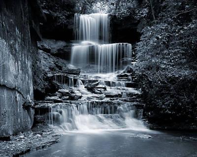 Photograph - Monochrome West Milton Falls by Dan Sproul