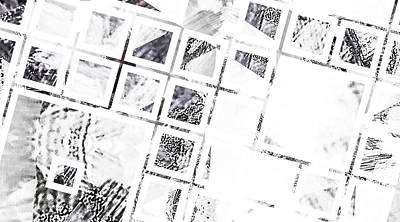 Monochrome White Abstract Pattern Original