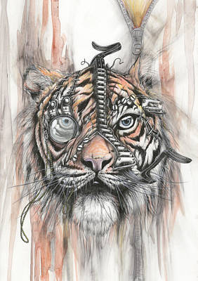 Monocle Eye Of The Tiger Art Print