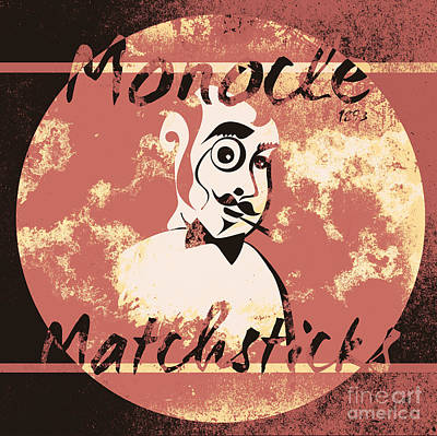 Monocle Matchsticks Vintage Tin Sign Advertising Art Print