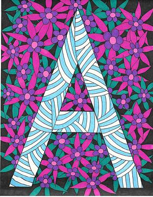 Drawing - Monogram A by Roberta Dunn