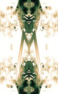 Monogram M - 0 - 9 Art Print