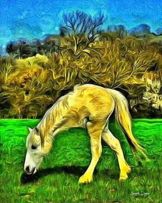 Horse Digital Art - Monohorse - Da by Leonardo Digenio