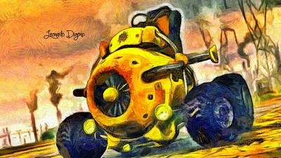 Inventor Digital Art - Monojet - Da by Leonardo Digenio