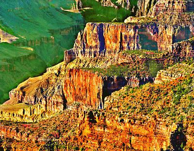 Painting - Monolith North Rim Grand Canyon by Bob and Nadine Johnston
