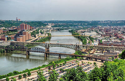 Photograph - Monongahela Bridges by C H Apperson