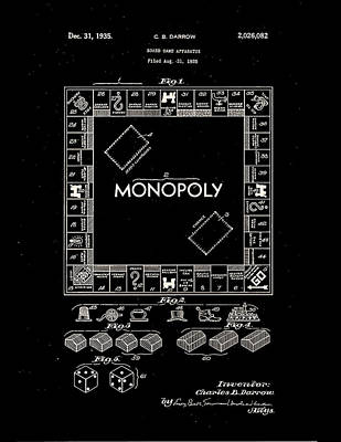 Design Photograph - Monopoly Board Patent 1935 by Claire  Doherty