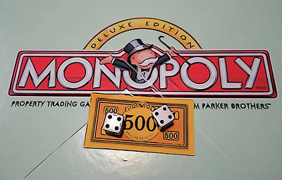 Mixed Media - Monopoly Game Board by Dan Sproul