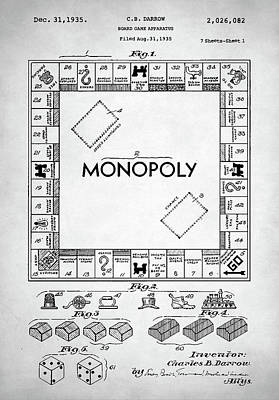 Digital Art - Monopoly Patent by Taylan Apukovska