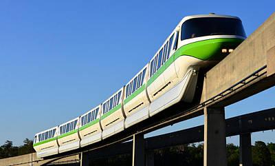 Monorail Photograph - Monorail Green by David Lee Thompson