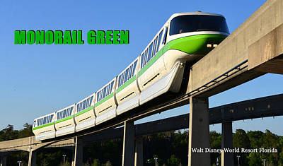Photograph - Monorail Green Wdwrf by David Lee Thompson