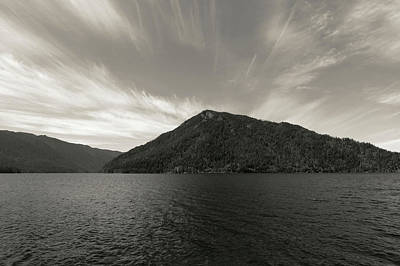 Photograph - Monotone Lake Crescent by Dan Sproul