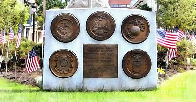 Photograph - Monroe County Armed Forces Memorial by Janine Riley