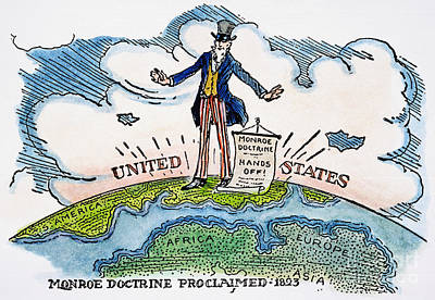 Photograph - Monroe Doctrine Cartoon by Granger
