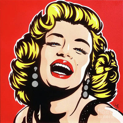 Painting - Monroe On Red by James Lee