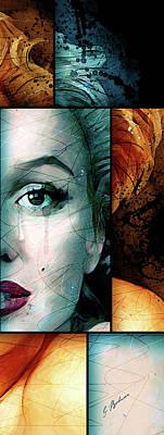 Beautiful Faces Digital Art - Monroe Panel B by Gary Bodnar
