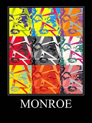 Painting - Monroe Poster by Robert Margetts