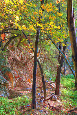 Digital Art - Monrovia Canyon In Fall by Viktor Savchenko