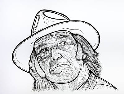 Neil Young Drawing - Monsanto Fears Outline by Steven Hart - Hart Creations