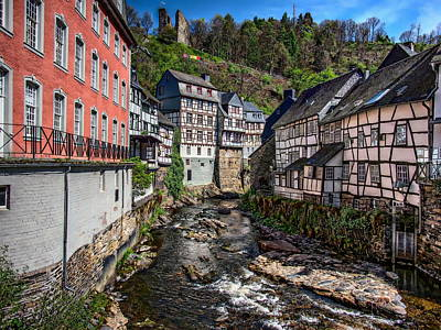 Photograph - Monschau Village View by Anthony Dezenzio