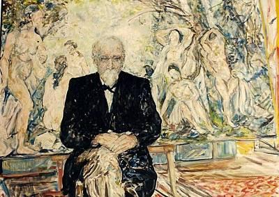 Painting - Monsieur 1905  Homage Cezanne by Caroline Krieger Comings