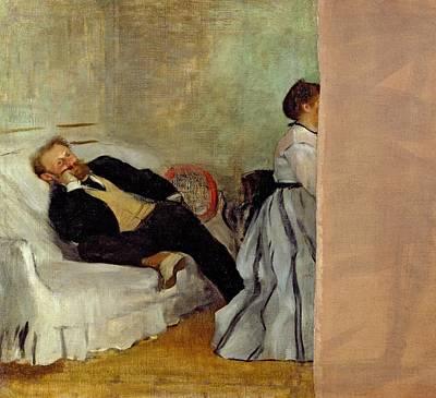 Monsieur And Madame Edouard Manet Print by Edgar Degas