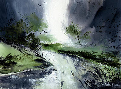 Painting - Monsoon 2018 -3 by Anil Nene
