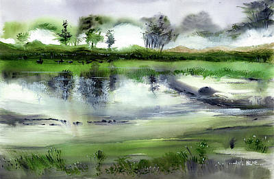 Painting - Monsoon 2018 - 5 by Anil Nene