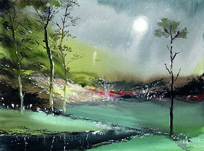 Painting - Monsoon 2018 R by Anil Nene