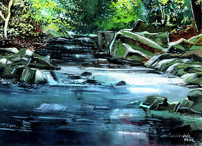 Painting - Monsoon by Anil Nene