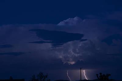Monsoon Cloud And Lightening 20 Art Print by Carolina Liechtenstein