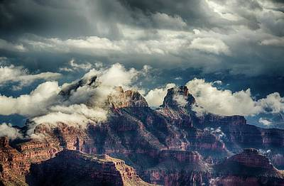 Photograph - Monsoon Clouds Grand Canyon by Gaelyn Olmsted