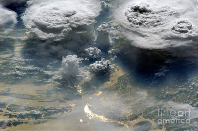 Photograph - Monsoon Clouds Over Bangladesh by NASA Science Source
