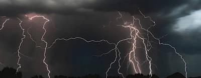 Photograph - Monsoon Lighting Storm by Elaine Malott