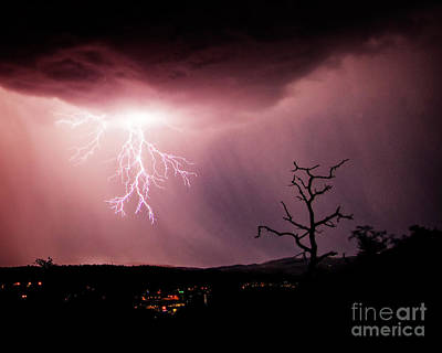 Photograph - Monsoon Lightning 2 by Scott Kemper
