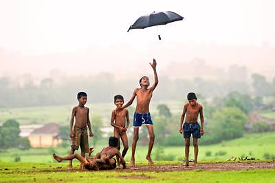 Monsoon Mania Art Print by Pramod Bansode