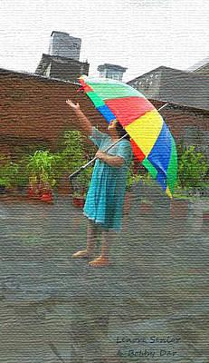 Rooftop Mixed Media - Monsoon Season by Lenore Senior and Bobby Dar