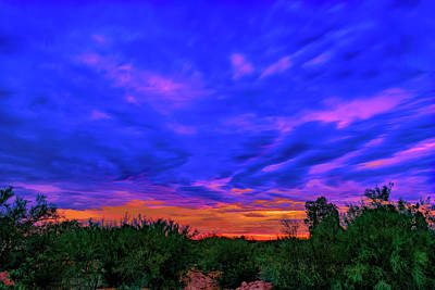 Mark Myhaver Rights Managed Images - Monsoon Sunset h43 Royalty-Free Image by Mark Myhaver