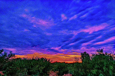 Mark Myhaver Rights Managed Images - Monsoon Sunset op44 Royalty-Free Image by Mark Myhaver