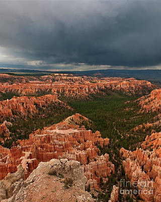 Photograph - Monsoon Thunderstorm Bryce Canyon National Park Utah by Dave Welling